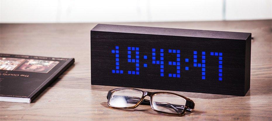 Black Message Click Clock