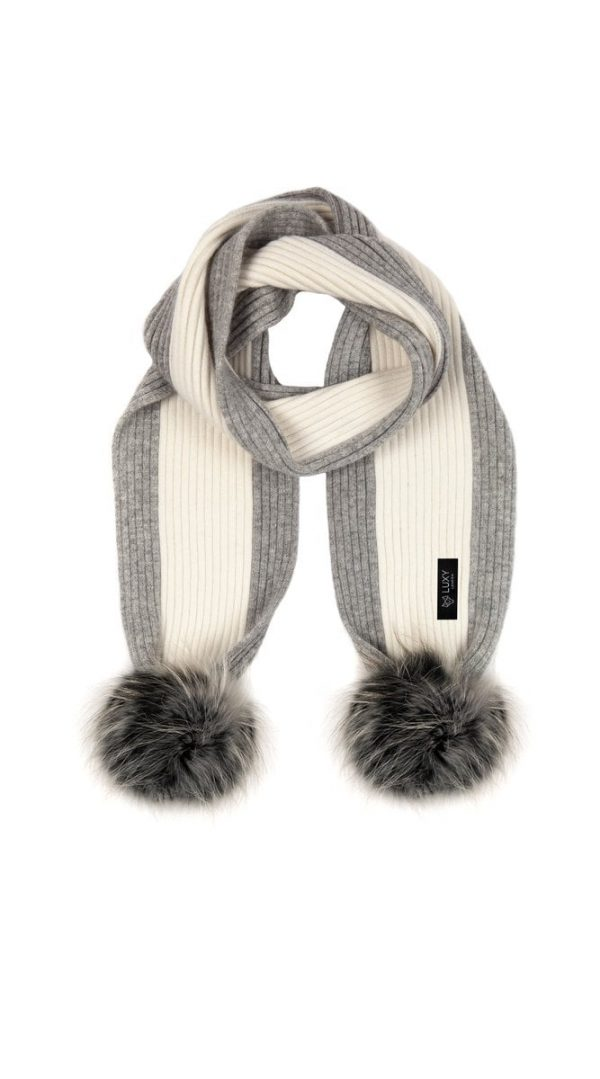 Harley Scarf White & Grey