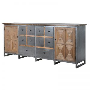 Industrial Wood & Metal Sideboard