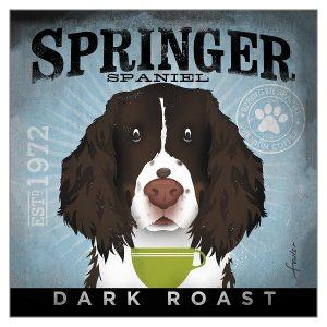 Greetings Card Springer Coffee