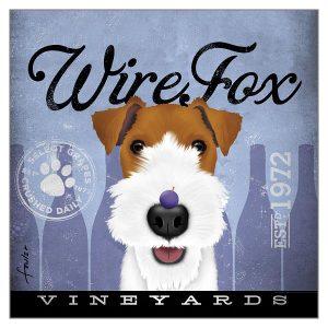 Greetings Card Wirefox Wine