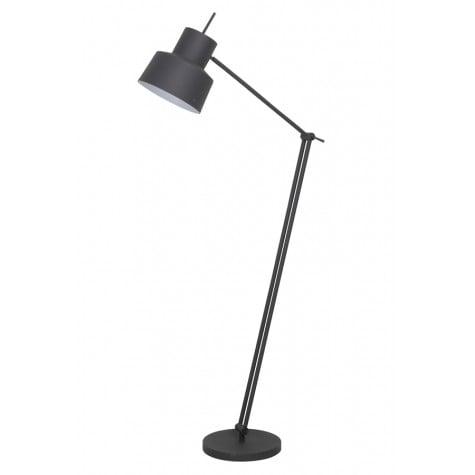 Matt Grey Metal Angle Poise Floor Lamp