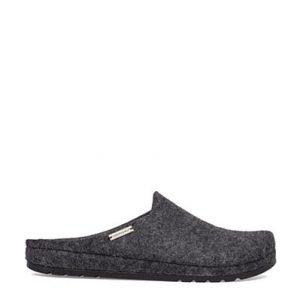 Men's Black Felt Hygee Slippers