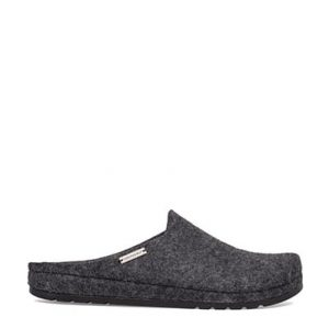 Men's Black Felt Hygee Slippers