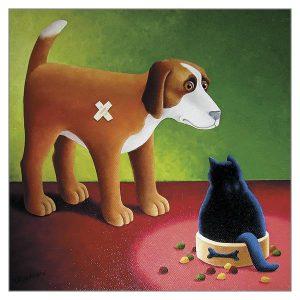 Greetings Card Dogs Dinner