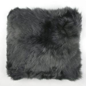 Sheepskin Cushion Flax Steel