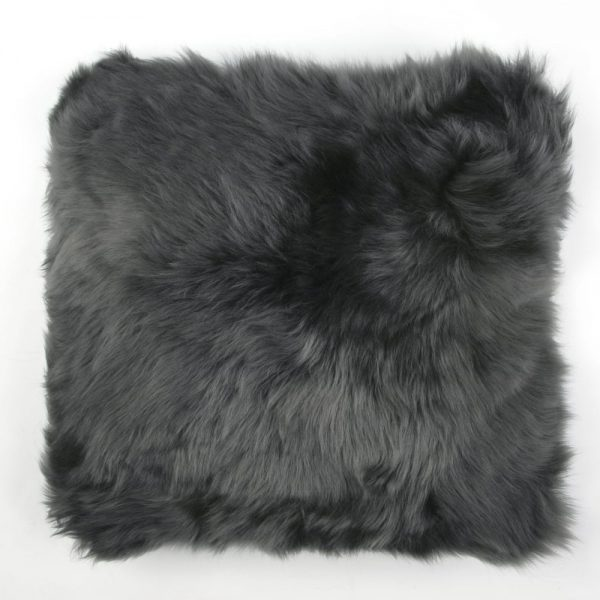Sheepskin Cushion Flax Steel
