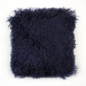 Tibetan Sheepskin Cushion Cornsilk