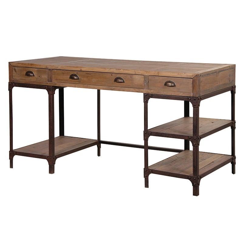Industrial Rustic Pine Desk