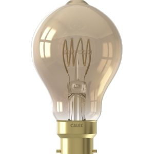 B22 LED Full Glass Flex Filament Bulb Gold