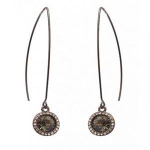 Black Crystal Teardrop Earrings