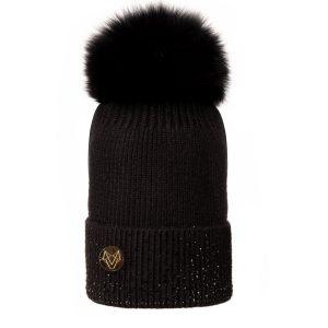 Sadie Pom Pom Hat Black