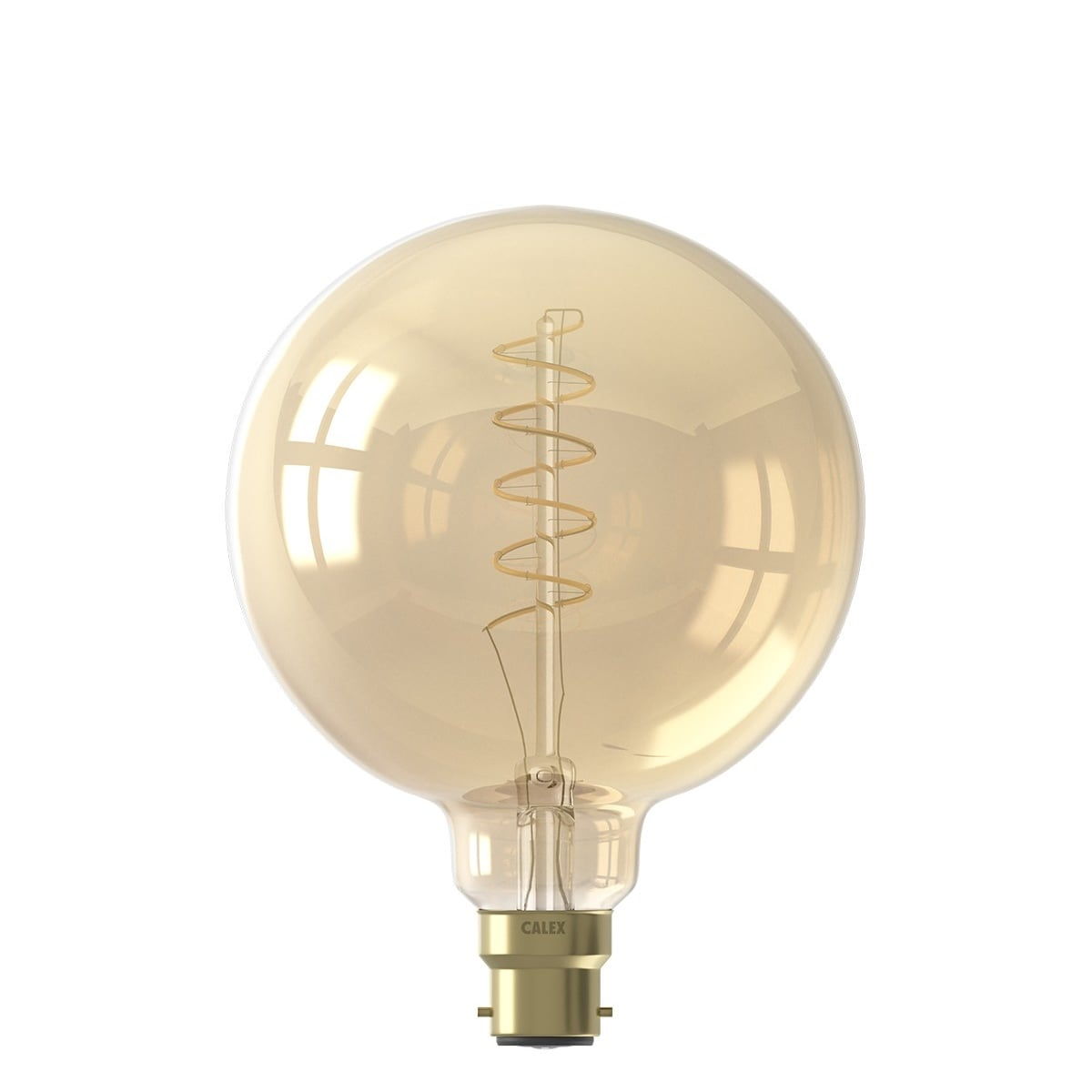 B22 Flex Spiral Filament Globe Lamp Gold(Dimmable)