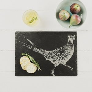 Pheasant Engraved Cheese Board