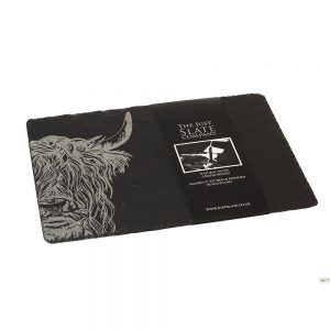 Highland Cow Engraved Cheese Slate Board