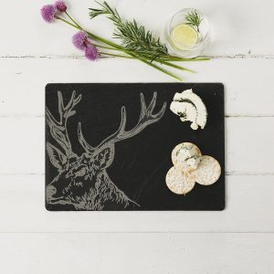 Stag Engraved Cheese Board