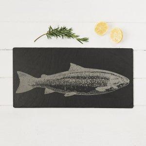 Salmon Engraved Slate Table Runner