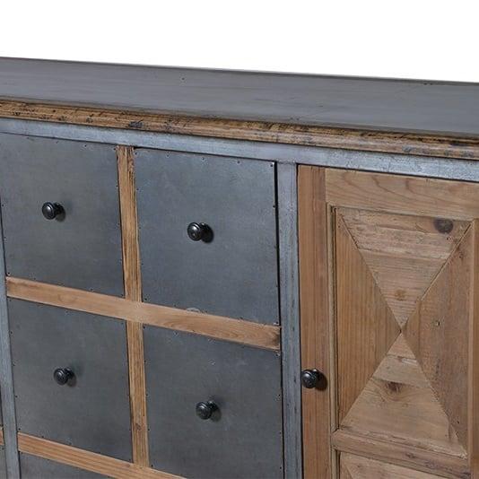 Industrial Wood & Metal Sideboard