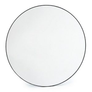 Medium Round Slim Frame Mirror