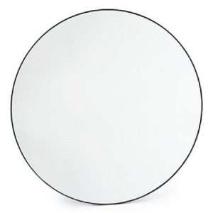 Large Round Slim Frame Mirror