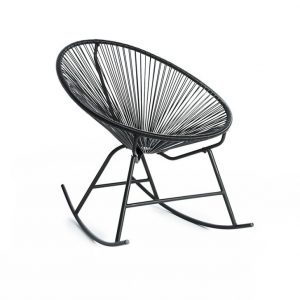 Black Wicker Rocking Chair