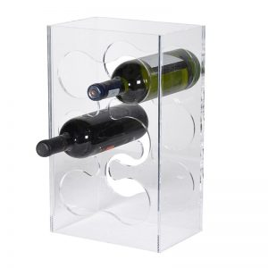 Acrylic 6 Bottle Wine Rack
