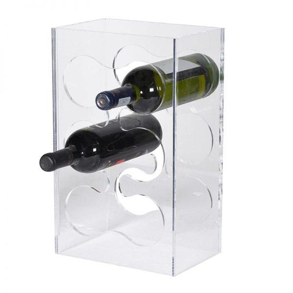 Acrylic 6 Bottle Wine Rack