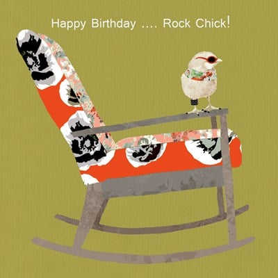 Birthday Card Rock Chick