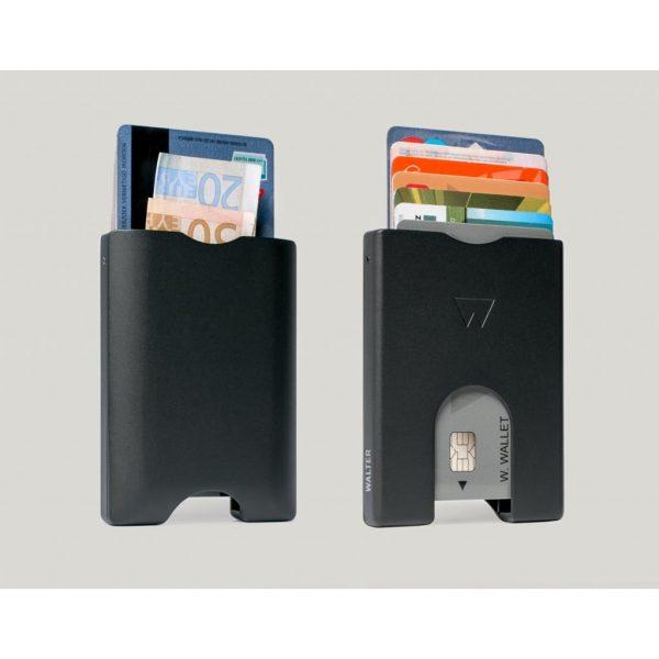 Walter Wallet Aluminium Card Holder Black
