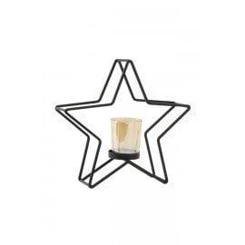 Black Star Tea Light Stand