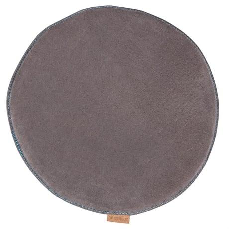 Asphalt Suede Round Padded Seat Cushion