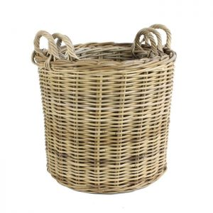 Round Kubu Log Basket