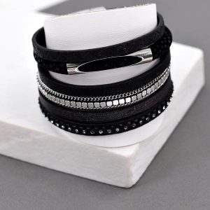 Multi Strand Bracelet with Magnetic Clasp