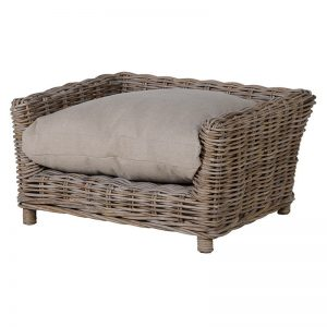 Small Kubu Rattan Dog Bed