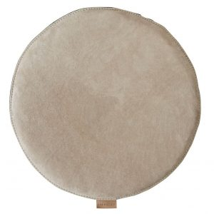 Stone Suede Round Padded Seat Cushion