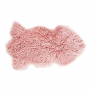 Dark Rose Tibetan Sheepskin Rug