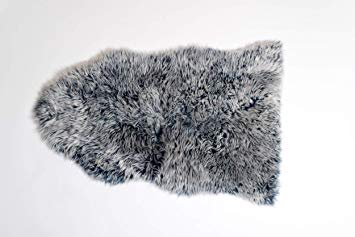 Silky Sheepskin Light Grey Dark Tip
