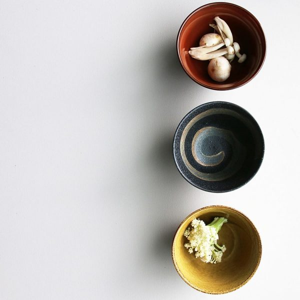 Set of 3 Japanese Matcha Bowls