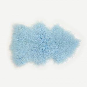 Powder Blue Tibetan Sheepskin Rug