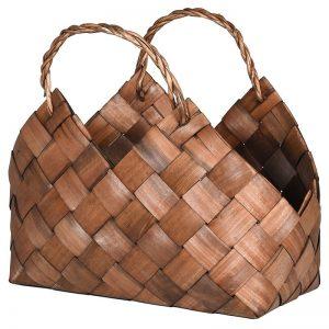 Large Woven Effect Storage Basket