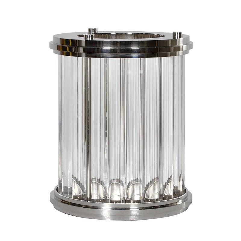 Small Art Deco Glass Hurricane