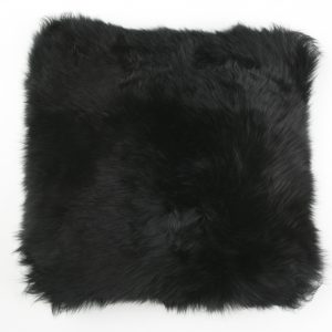 Silky Sheepskin Square Seat Pad in Black