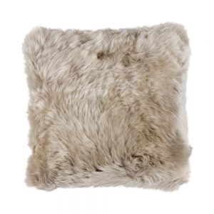 Silky Sheepskin Square Seat Pad in Dark Linen