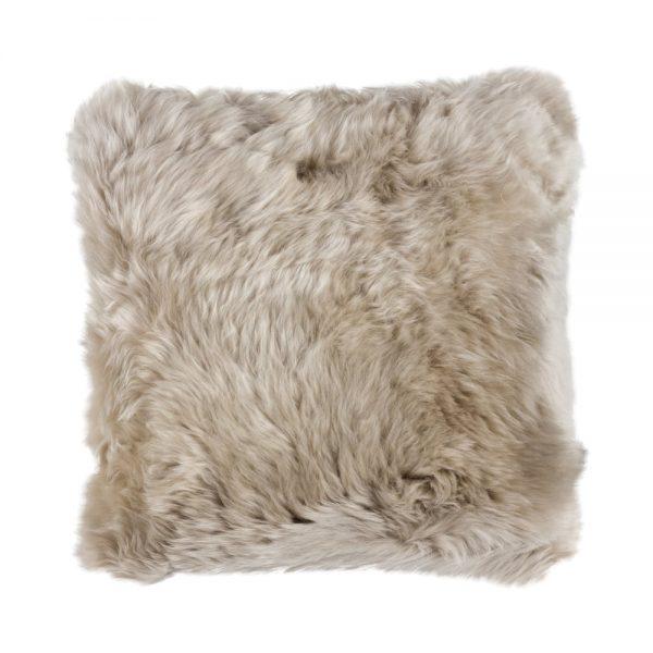 Silky Sheepskin Square Seat Pad in Dark Linen