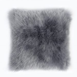Silky Sheepskin Square Seat Pad in Platinum