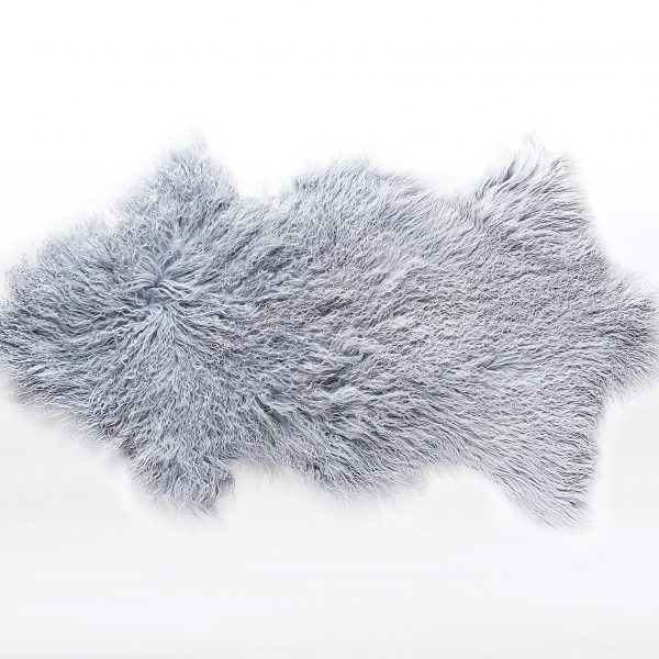 Dove Grey Tibetan Sheepskin Rug