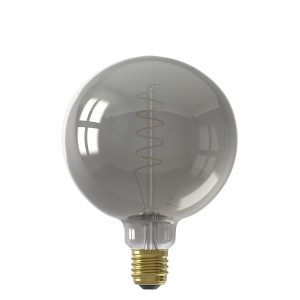 Calex E27 Flex Filament LED Titanium Glass Globe Bulb(Dimmable)
