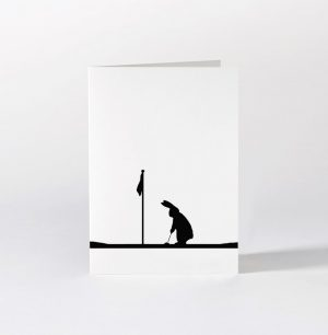 Golfing Rabbit Card