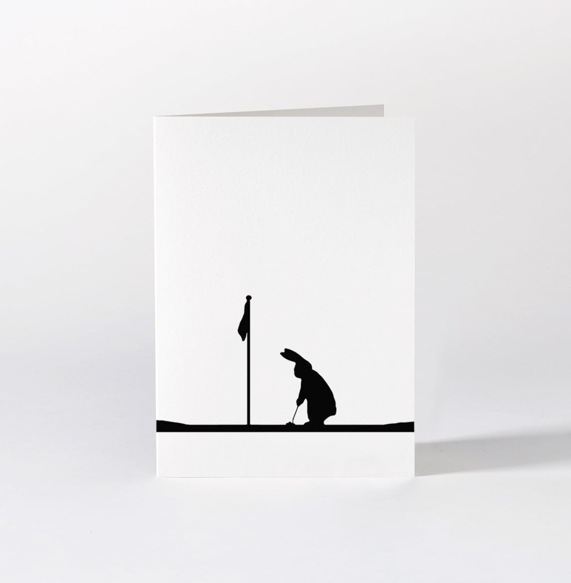 Golfing Rabbit Card