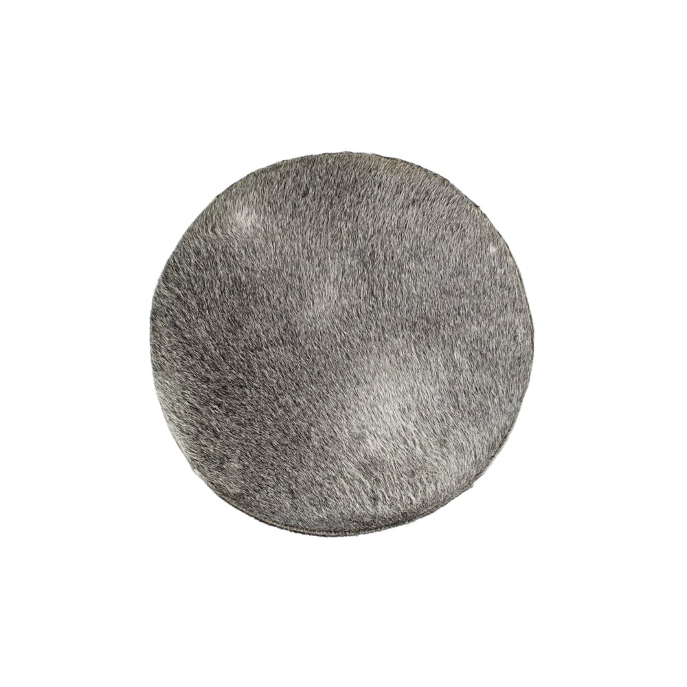 Grey Cowhide Bar Stool
